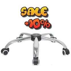 Метална кръстачка за офис стол с колелца Ø 640