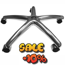 Replacement 5 star shape Metal Steel with Chrome Plate Base of Chair