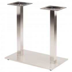 Quadrato Dual Column Stainless Square Base