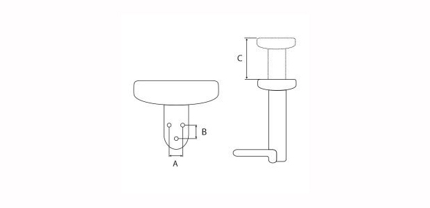 Office chair parts armrest