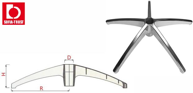 Полирана алуминиева кръстачка