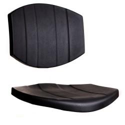 Polyurethane seat and backrest